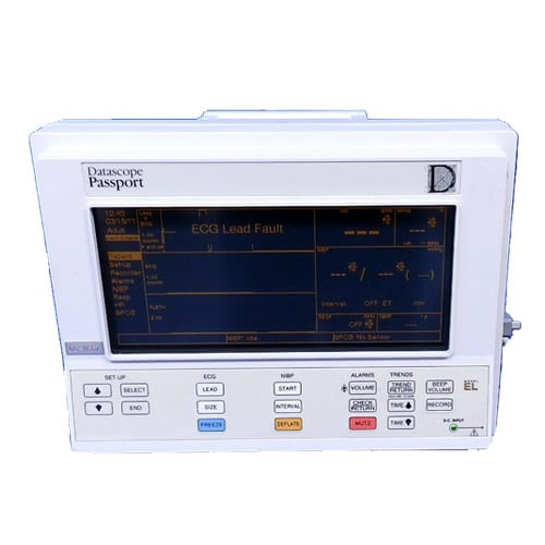 -Large, easy-to-read electro luminescent display provides up to three waveforms.