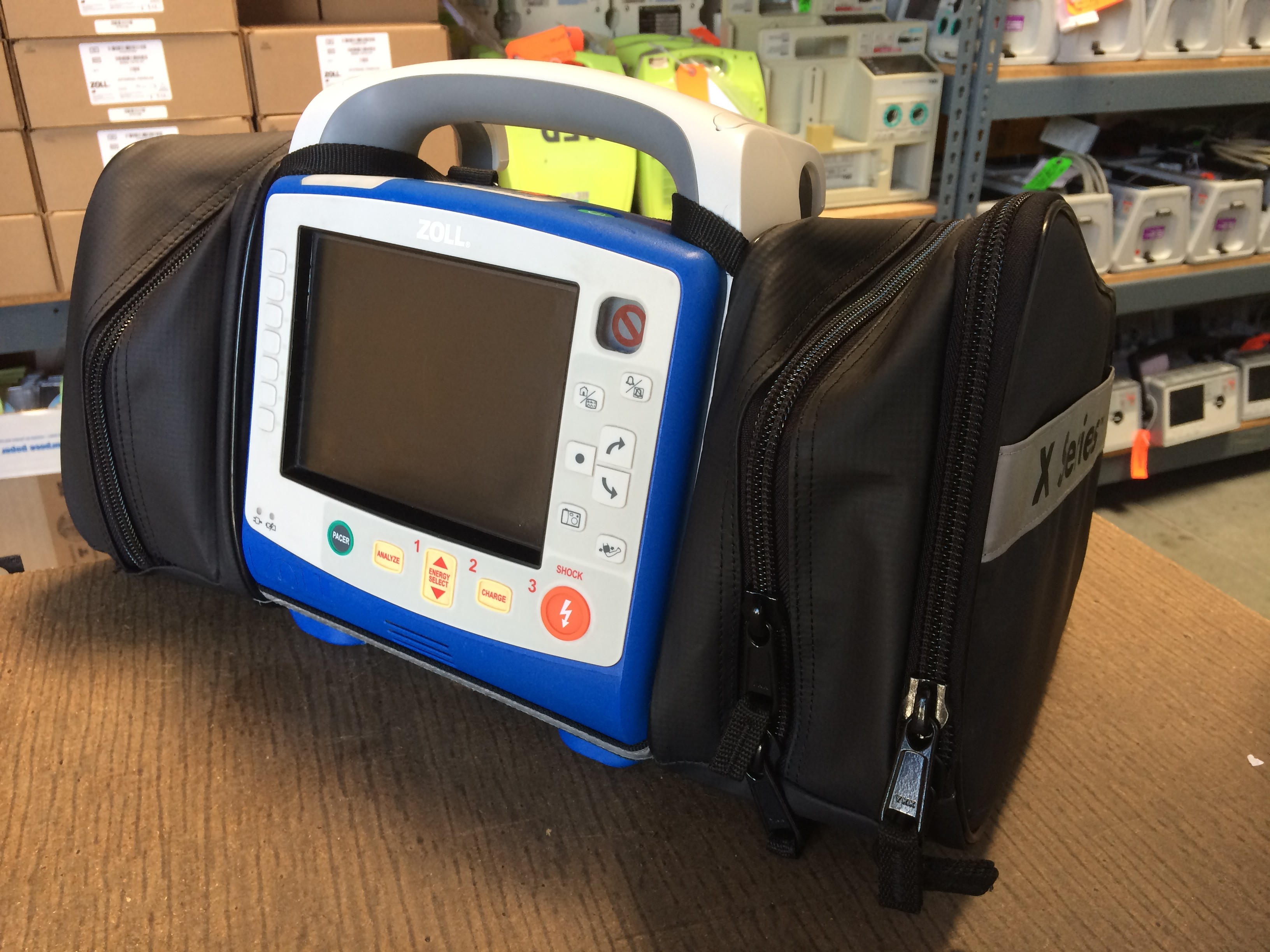 Fully loaded Zoll X series shipping to one of our customers. This is the newest defibrillator model from Zoll. Light and compact to meet the needs of EMS providers.